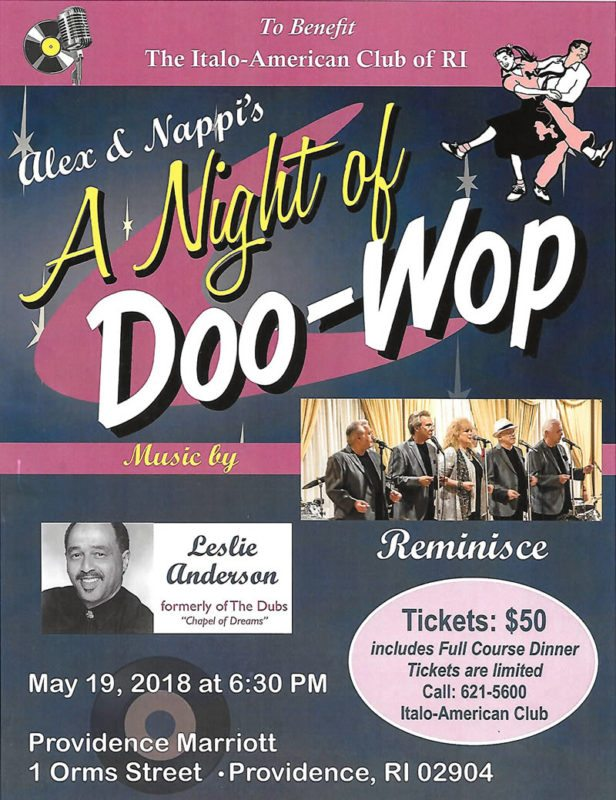 Alex & Nappi's Doo-Wop – Saturday, May 19, 2018