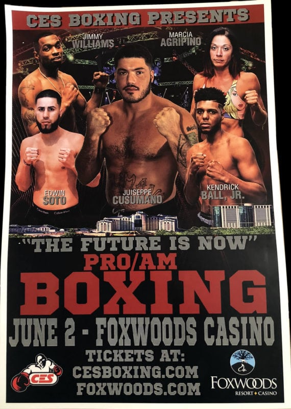 Championship boxing featuring Juiseppe Cusumano from Sicily.